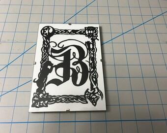 Custom Hand Cut Monogram