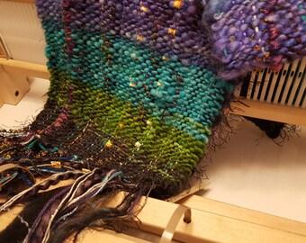 Chunky Hand Woven Scarf - Handspun Yarn - Free US Shipping - Ready to Ship