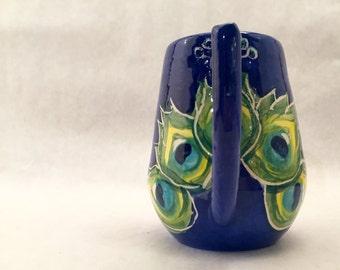 Cute Handmade Peacock Mug