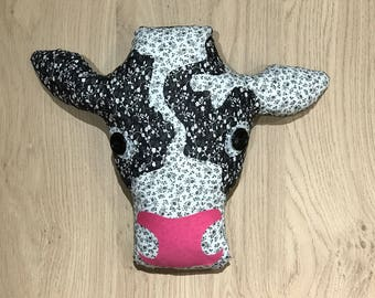 Cow Patchwork Cushion