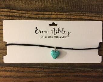 Turquoise Heart Choker