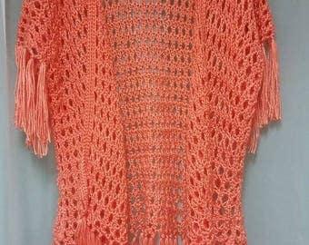 Crochet Kimono / Cardigan / Boho / Shrug / Fringe
