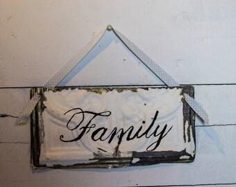 Hand-lettered Family Sign
