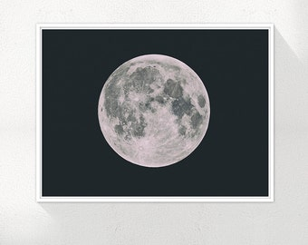 Full Moon Print, Moon Wall Art, Moon Wall Art, Full Moon Print, Large Moon Print, Wall Art, Printable, Instant Download