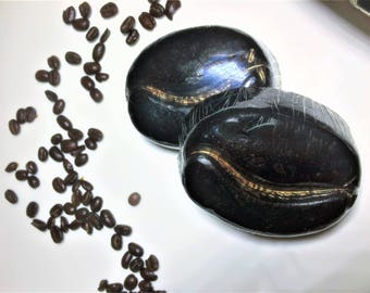 Scrub Exfoliating Coffee Bean Soap  with Coffee.1 Bar of Soap Glycerin,Vitamin E, Coffee,Cocoa Butter,Shea Butter.