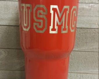 USMC Marine Corp. RTIC 30 oz. Powder Coated Tumbler