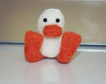 White Neddle Felted Duck