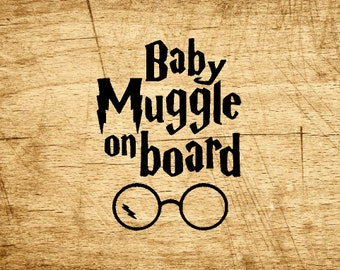 Baby Muggle on Board Decal