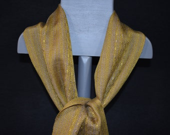 Handwoven Tencel Scarf - Gold