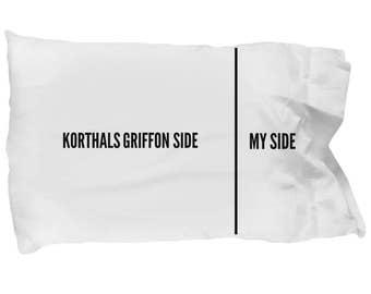 Korthals Griffon Pillowcase - Wirehaired Pointing Griffon Pillowcase - Korthals Griffon Gifts - Korthals Griffon Side My Side