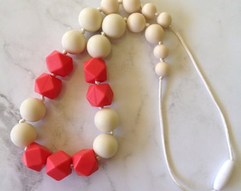 SALE! ALL Necklaces 10 AUD! Silicone Teething Necklace - Coral