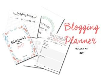 Blog Planner PDF, Blogging Plans, Blogging, Blog Printable, Blog organized, Blog Journal PDF, Blog Agenda, Blog Printable,