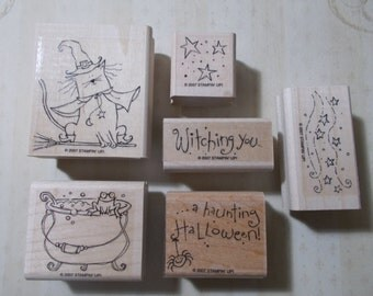 Stampin Up 2007 Haunting Halloween Set of 6