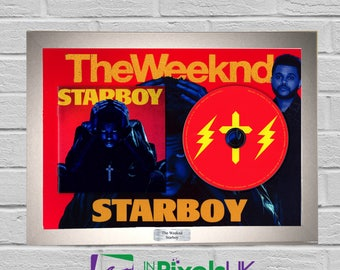 The Weeknd - Starboy CD Frame Presentation Rare Custom Beauty Behind The Madness Kissland Poster Trilogy