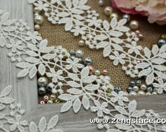 Guipure lace trim/Lace Fabric/Wedding Lace/Vintage Lace/Antique Lace/Coture Trim/Bridal Lace/Wide Lace/Venise Lace/Lace by the yard, GL-45