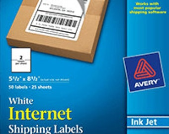 Bulk 10 - Avery (8126) Shipping, Mailing Labels TrueBlock Technology