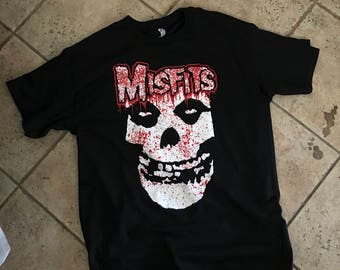Misfits  T shirt black punk rock
