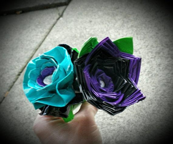 Duck tape flower pens 2 flowers for 8.00