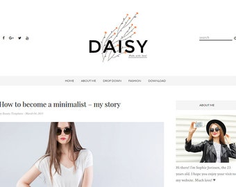 Daisy - Clean & Responsive Blogger Template