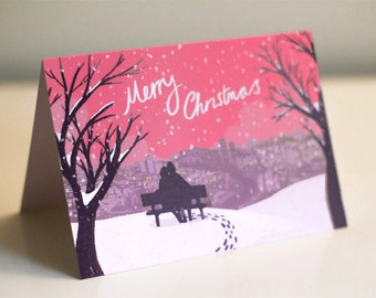 Christmas City Scene - Christmas Card