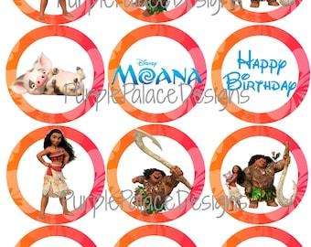 Decoraciones para fiestas Moana Moana Cupcake Toppers , cumpleaños de Moana  Moana decoraciones de cumpleaños , fiesta de cumpleaños de Moana,