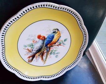 VINTAGE SCHUMANN ARZBERG Parrot Plate