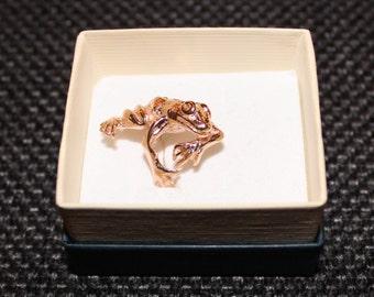 Bronze frog ring