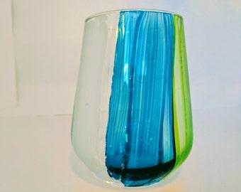Vintage look striped glass
