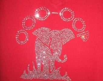 Divine Nine  Sorority Inspired  Rhinestone Bling Tshirt-All Sizes Available S to 3XL Fitted V-Neck Tshirts-Sorority Gifts