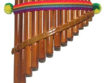 Gorgeous Artisan Made 13 Pipes Curved Peruvian Pan Flute