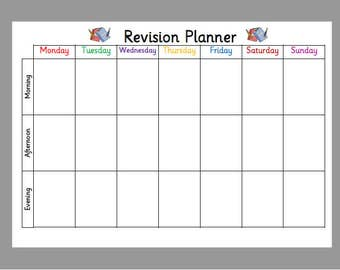 weekly student planners