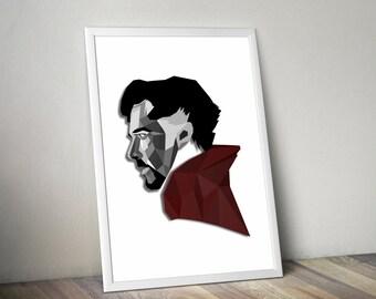Marvel Doctor Strange Low Poly Poster