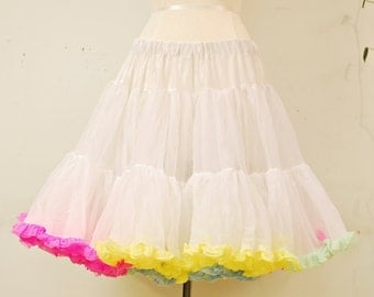 1960's/70's Sam's Multi-Colored Crinoline / Petticoat / Pin Up / Burlesque / Mad Men / Rare Collectable Retro
