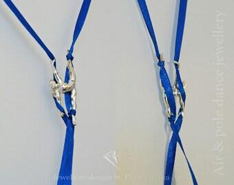 Aerial Silk Jewelry Pendant