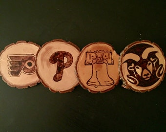 Handmade Customized Wood Coasters