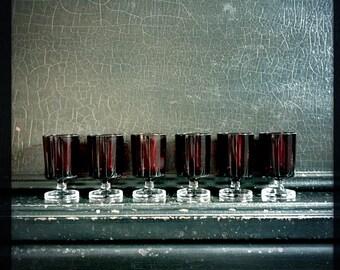 Vintage Shot Glasses | Luminarc | Red | Set of 6