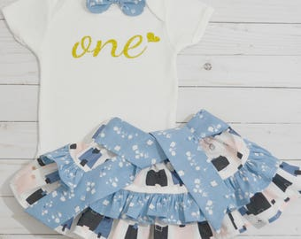 One Year Old Girl Birthday Outfit, Cake Smash Outfit, Baby Girl Birthday, First Birthday, Girls Clothing, Second Birthday, Made In the USA