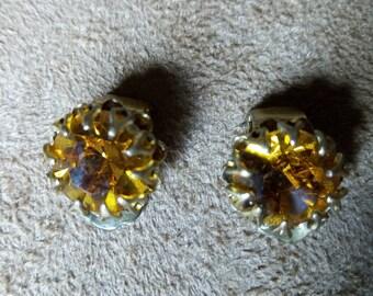 Vintage amber color earrings