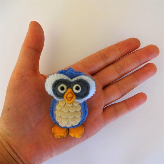 Pacific Blue Owl Brooch
