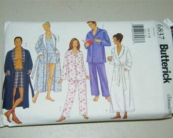 Butterick Unisex PajamasRobe Pattern 6837 12792 UNCUT Size XS S M