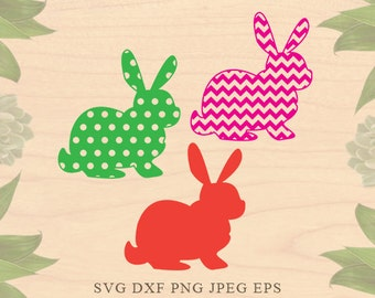 Rabbit svg Easter svg Easter dxf Hare svg Rabbit patterns Svg Cut Files Rabbit Dxf Eps Cricut files for Silhouette files Cricut Downloads