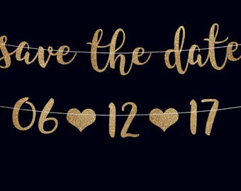 Save the date banner engagement banner engagement photo prop wedding banner bridal shower decorations bridal shower banner date garland