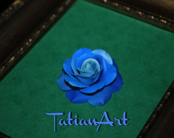 Blue Rose. Two Shades of Blue Rose Cabochon Jewelry Supplyes  Rose for you accessories,  Scrapbooking application.