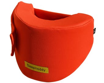 Sleepnoddy - Blood Orange travel pillow. Unique design, perfect for long plane trips.