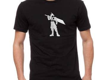 Cloud Men's Black T-shirt