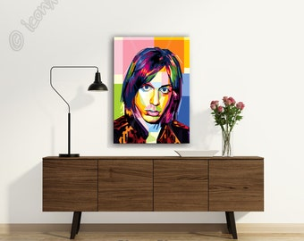 Tribute to Iggy Pop FRAMED ART, Music iconArt, Personalized Gift, Name City Date, Pop Art, Wall Art, Gift For Women, Gift For Men, Seventies