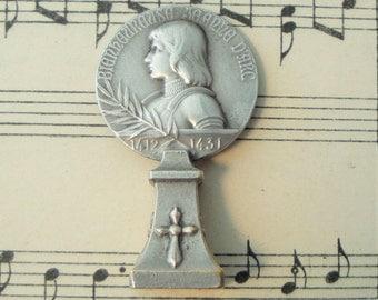 Antique French Joan of Arc / Fleur de Lys Wax Seal c1900