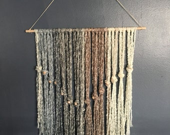 Handmade Large Wall Hanging 36 inches wide