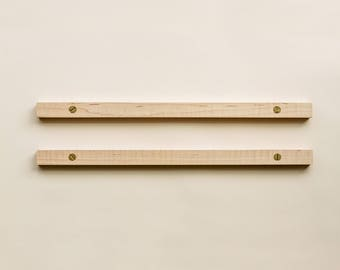 Solid Maple Poster Hanging Rail Set: Elegant Wall Mount Option for Displaying Art Prints - 18""