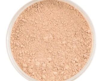 Natural Mineral Foundation - Shade: Lightly Medium - 10g sifter jar (vegan, cruelty-free makeup, powder, perfect for acne & sensitive skin)